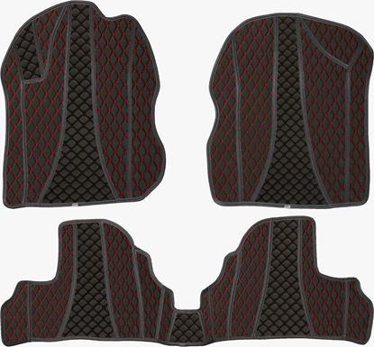 تصویر کفپوش چرمی سه بعدی گلدوزی پژو 206 sd